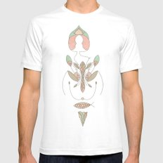 sacred molecule SMALL Mens Fitted Tee White