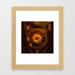 Awesome noble steampunk design Framed Art Print