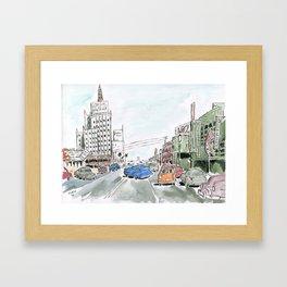 1950s Los Angeles Framed Art Print
