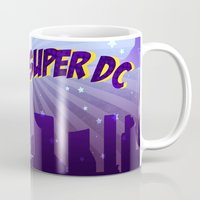 dc comics Mugs featuring Super DC by Sunshunes