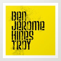 steelers Art Prints featuring Ben Jerome Hines Troy / Gold by Brian Walker