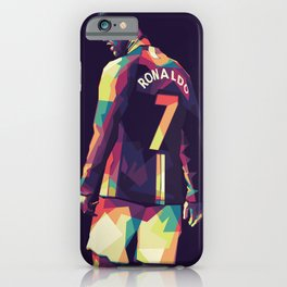 Ronaldo CR7 on WPAP Pop Art Portrait iPhone Case