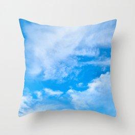 Sky Clouds Throw Pillow