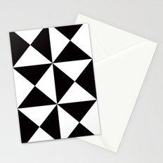 B/W triangle X4 pattern Stationery Cards
