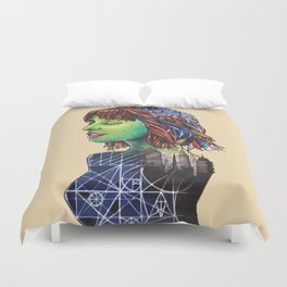 Wired Woman Duvet Cover