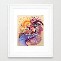 koi Framed Art Prints featuring Koi by Nick La