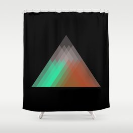 The Heart of the Mountain Shower Curtain