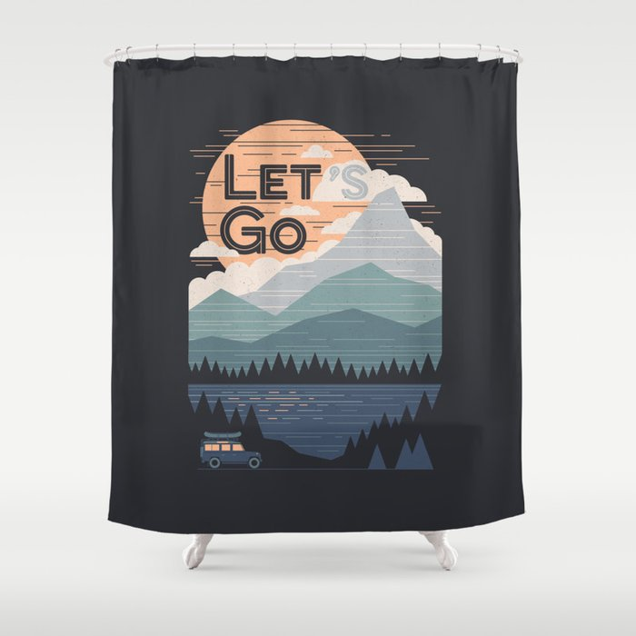 Let's Go Shower Curtain