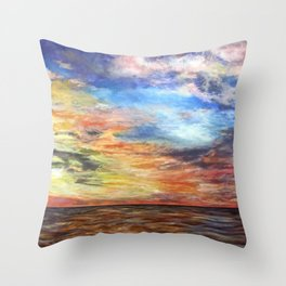 Sunset for Georgia Throw Pillow