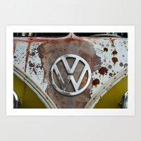 volkswagen Art Prints featuring volkswagen by Aaron Joslin Photography
