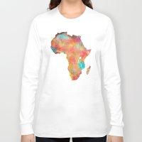 africa Long Sleeve T-shirts featuring Africa by jbjart
