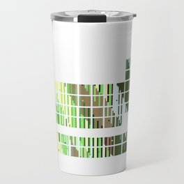 Periodic Table, Pixilated Color Blocks Travel Mug