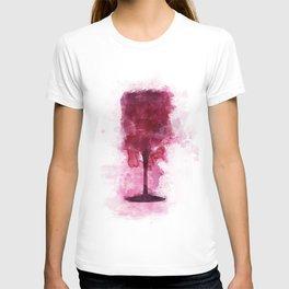 Wine Glass Watercolor T-shirt
