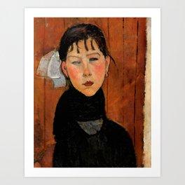 """Amedeo Modigliani """"Marie (Marie, fille du peuple)"""" Art Print"""