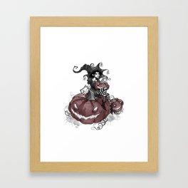 Inktober Jack-o-lantern Framed Art Print