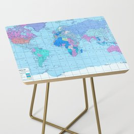 Bright World Map Side Table