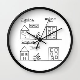 Recycling Wall Clock