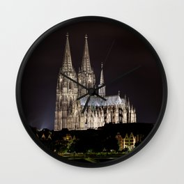 Cologne Cathedral By Night Wall Clock