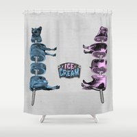 ice cream Shower Curtains featuring Ice Cream by DIVIDUS