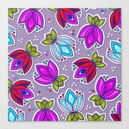 Pop Off Floral Canvas Print