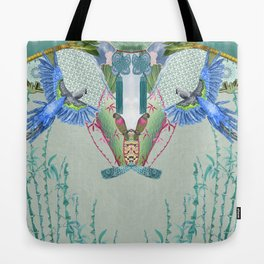 Blue Headed Parrot Tote Bag