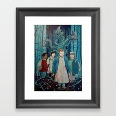 Stranger Things artwork painting Framed Art Print