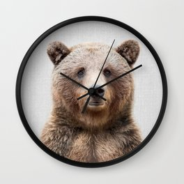Grizzly Bear - Colorful Wall Clock