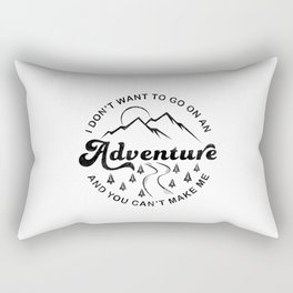 I Don't Want To Go (Black & White) Rectangular Pillow