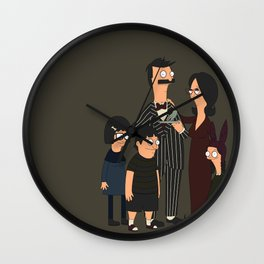 Addams Family Burgers Wall Clock