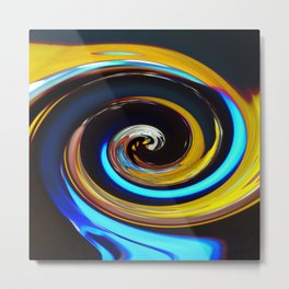 Swirling colors 03 (Swirl) Metal Print