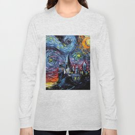 Painting castle Stary night Long Sleeve T-shirt
