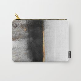Soot And Gold Carry-All Pouch