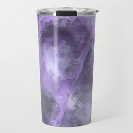 Stormy Abstract Art in Purple and Gray Travel Mug