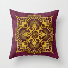 omjárah gold gallery mandala Throw Pillow