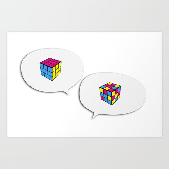 Rubik InQuadri Art Print