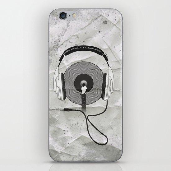 vinyl afro iPhone & iPod Skin