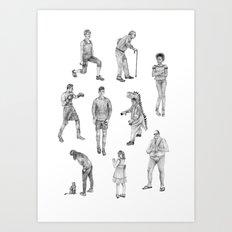 People Drawings! Art Print