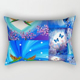 Blue designs Rectangular Pillow
