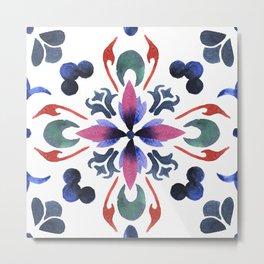 Floral ornament. Watercolor Metal Print