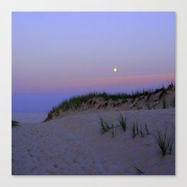 Nighttime at the Beach Canvas Print