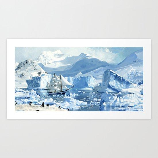 Antarctica Art Print