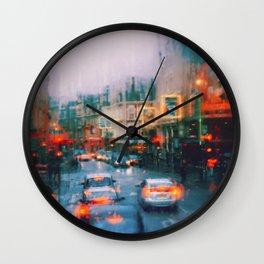 Beautiful traffic lights in london Wall Clock