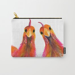 Happy Hens Chickens ' HARRIET & HUMBUG 2 ' by Shirley MacArthur Carry-All Pouch