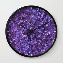 Abalone Shell | Paua Shell | Violet Tint Wall Clock