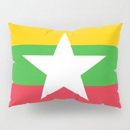 Myanmar Flag Pillow Sham