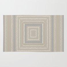 Sandy Beige Concentric Squares Rug