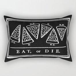 Eat, or Die (black) Rectangular Pillow
