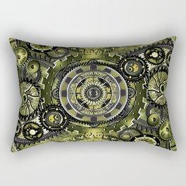 Green Gear Wall Rectangular Pillow