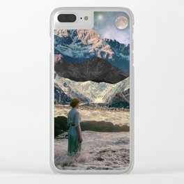 The mysterious woman Clear iPhone Case