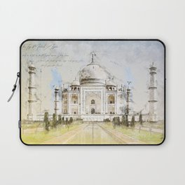 Taj Mahal, India Laptop Sleeve
